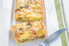 Having friends round for lunch? This quiche, a green salad and a glass of wine will make it a relaxed and delicious affair.