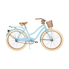 "Walmart 26"" Huffy Nel Lusso Women's Cruiser Bike, Gloss Blue (535 BRL) ❤ liked on Polyvore featuring fillers, bikes, accessories, bicycle and items"