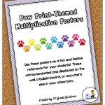 Multiplication Posters – 3rd Grade Gridiron
