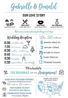 Infographic Wedding Program Fun Wedding Program Printable