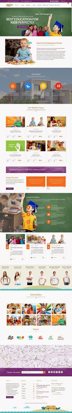 PeachClub Beautiful #Kindergarten ChildCare WordPress Theme #website #design