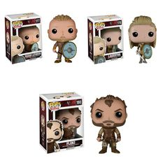 Ragnar, Floki and Lagertha. $25 ea.   Available at #AMCEXPO at Ozzie Collectables Stall 151, Limited Quantities.   Much More available now at www.ozziecollectables.com #pop #vinyl #pops #funko #vikings  #poptv #tv #television #floki #ragnar #lagertha #OzzieCollectables #ozzie #collectables #
