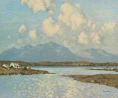 by Paul Henry ((11 April 1877 – 24 August 1958) was an Irish artist noted for depicting the west of Ireland landscape with a spare post-impressionist style.)