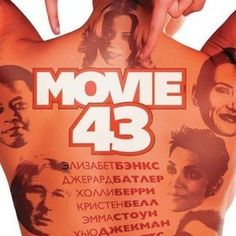 Movie 43 Russian Poster - The cast of this mammoth ensemble is tattooed on the back of a Russian bikini model, in theaters this January.