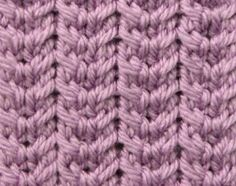Checkmark Ribs - Stitch Sample