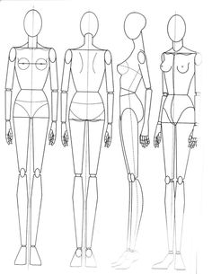 Image result for sketches of fashion croqui for intimates