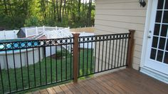 After Fortress has been installed WOW what a difference and no more staining the balusters. YEA