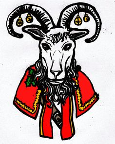 The Yule Goat The Yule Goat is an interesting individual, his history goes back to pre-Christian Scandinavia. In Finland his name is Joulupukki and basically he was a goat version of Santa Claus. Yule Goat, Folklore, Thor, Goats, Scandinavian, Moose Art, Symbols, Traditional, Christmas