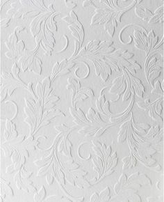 This large scale scrolling leaf design is a modern take on a classic design. This home wallpaper is textured and paintable to match any decor.