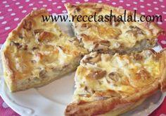Quiche de pollo y champiñón Recetas Halal, Cauliflower, French Toast, Empanadas, Quiches, Vegetables, Breakfast, Food, Chicken Quiche