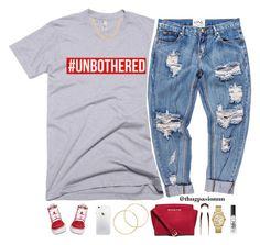 """""""#Unbothered - No. 671"""" by thugpassionnn ❤ liked on Polyvore featuring OneTeaspoon, Vans, Sterling Essentials, Melissa Odabash and MICHAEL Michael Kors"""