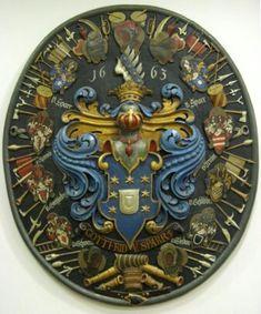 Totenschild der Familienwappen von Gottfried von Sparr
