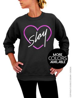 "Use coupon code ""pinterest"" Slay Crew Neck Sweatshirt by DentzDenim"