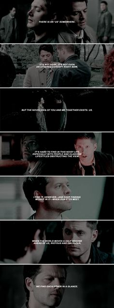 — that moment of empty universe and you, just you, is my heaven. #spn #destiel