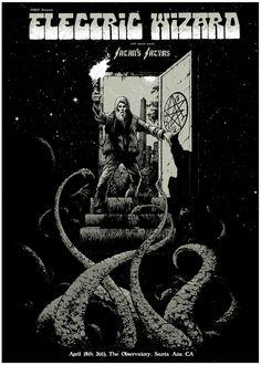 Electric Wizard screen print poster by Arik Roper.