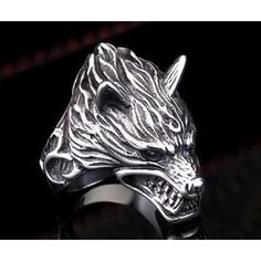 Angry Wolf Ring