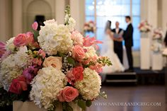 Pink & White Wedding Ceremony,  Picture This! Photography, Tulip - Blooming Creations flowers