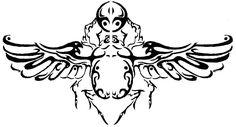 tribal winged scarab