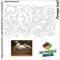 Arquivos para Download - CNC/Laser: 3D Puzzle Brasil - 01 Cardboard Paper, Cardboard Crafts, 3d Paper, Paper Toys, Wood Crafts, Diy And Crafts, 3d Models, Paper Models, Kirigami