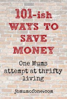 101ish ways to save money 101 ish Simple Ways To Save Money #thriftytips