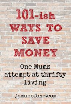 We are always looking for ways to save money...definitely a repeating trend.  101ish ways to save money 101 ish Simple Ways To Save Money #thriftytips