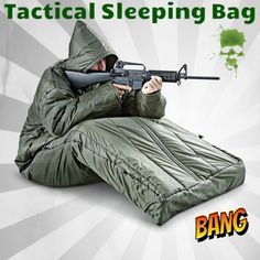 Tactical Sleeping Bag and Jacket Arms Prep SHTF Camo Camping Olive Drab Military Survival Prepping, Emergency Preparedness, Survival Gear, Survival Skills, Diy Camping, Camping And Hiking, Camping Gear, Backpacking, Hunting Gear