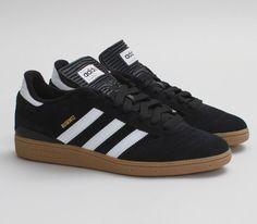 adidas Skateboarding Busenitz – Black / Running White – Metallic Gold