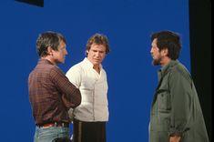 Behind the scenes - Harrison Ford Star Wars I, Star Wars Books, Scene Photo, Movie Photo, Saga, Princesa Leia, Han And Leia, Original Trilogy, Harrison Ford