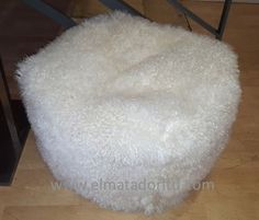Soft and Luxurious Short Hair Tibetan Lamb Pouff available in many sizes and colours.