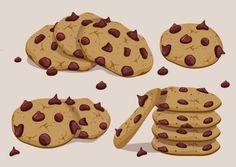 Vector Biscoito de Chocolate Set Vetor grátis