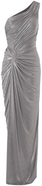 BIBA   Asymmetric One Shoulder Maxi Dress  *Only I'd like it in a color like teal or hot pink* pa