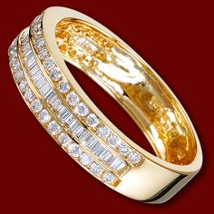 Golden ring, diamonds, wedding ring, ring