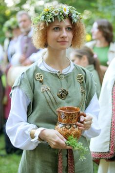 Lithuania...traditional clothing for a celebration.