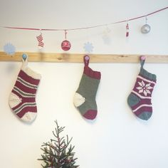 Christmas socks for the little ones on http://jolietricot.com/christmas-projects/