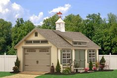 prefab garages | Prefab One Car Garage Sheds - traditional - garage and shed ...