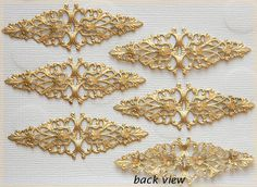 Raw Brass Filigree Diamond Dapped Dapt by DecadentBrassGlass