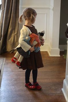 my inspiration picture for my latest project...a random photo off of pininterest actually for a knitted doll link, but this little girl was so precious!  I'll have to send the OP a picture when I'm done.