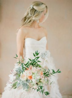 Stunning wedding bouquet by InesNaftali.com - Seen on http://www.StyleMePretty.com/2014/05/28/romantic-glamour-in-miami/  Photography: KTMerry.com