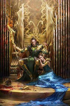 That day, Loki stole Thor's most beloved thing; not the crown, nor title of king, no no, that day Loki stole Jane Foster. Loki Thor, Tom Hiddleston Loki, Marvel Art, Marvel Avengers, Loki Fan Art, Loki Y Sigyn, Loki Laufeyson, Loki God Of Mischief, Sexy Cartoons
