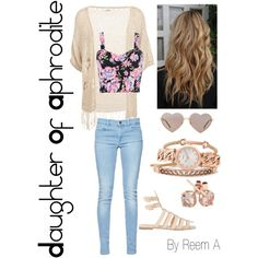 Daughter Of Aphrodite Casual Outfit, Cabin 10, Percy Jackson Inspired Outfit