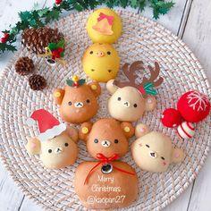 Rilakkumar & friends Christmas bread by kaori.kubotaHokkaido (@kaopan27)