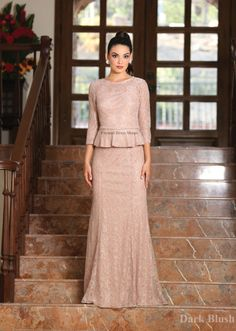 Classy Mother Of The Bride Groom Lace Dress Formal Sleeve Evening Long Gown Mother Of The Bride Gown, Mother Of Groom Dresses, Bride Groom Dress, Mothers Dresses, Lace Bride, Mob Dresses, Plus Size Dresses, Formal Dresses, Bride Dresses
