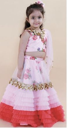 Little Girl Pageant Dresses, Baby Dresses, Lehanga For Kids, Kids Wear, Children Wear, Lehnga Dress, Kids Fashion, Womens Fashion, Rangoli Designs