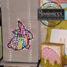 How cute is this kitchen towel? Lots of new Easter items have been added to the website. See now : www.TheMississippiGiftCompany.com/Easter-Gift-Baskets.aspx