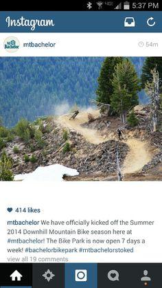 Mt Bachelor downhill biking in thr summer