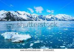 Glacier and beautiful nature of Alaska - stock photo