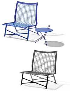 tie break The use of netting creates a flexible seat that can be left outside, as opposed to rigid garden furniture that requires a cushion brought from indoors