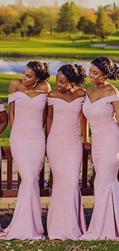 Pink Mermaid Off The Shoulder Cheap Long Bridesmaid Dresses Online, WG – SposaDresses Cheap Bridesmaid Dresses Online, Cheap Homecoming Dresses, Pink Bridesmaid Dresses, Wedding Dresses, Bridesmaids, Navy Lace, Dress Backs, Pink Dress, Off The Shoulder