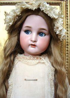 Rare and nice antique SIMON & HALBIG  Bebe with flirty eyes.
