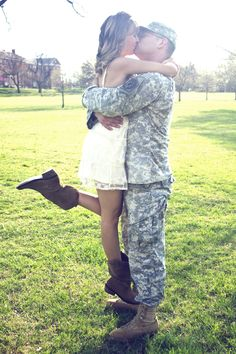 army wedding | Patriotic Engagement Photos - Military Engagement Photos | Wedding ...